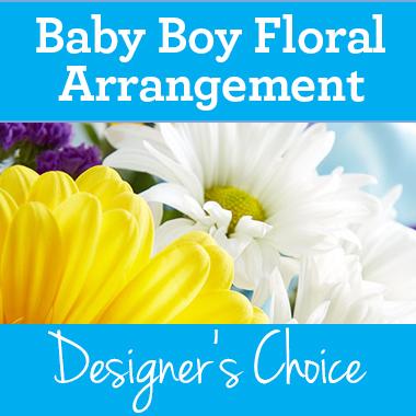 Baby Boy Floral Arrangement Flowerama Cedar Falls 427