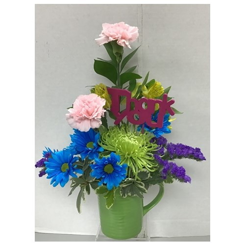 administrative professionals day gift and fresh flower vase with mug