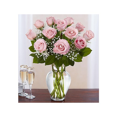 A-Dozen-Classic-Pink-Roses-for-any-occasion